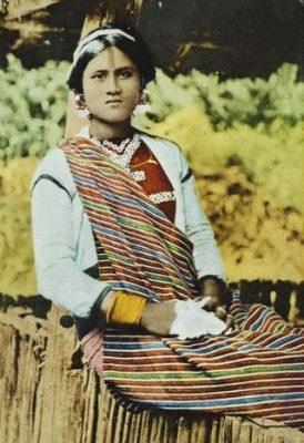 紋面的泰雅族女性